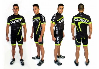 Conjunto Maillot+Culotte Pro Cycling Series Cloot Fluor